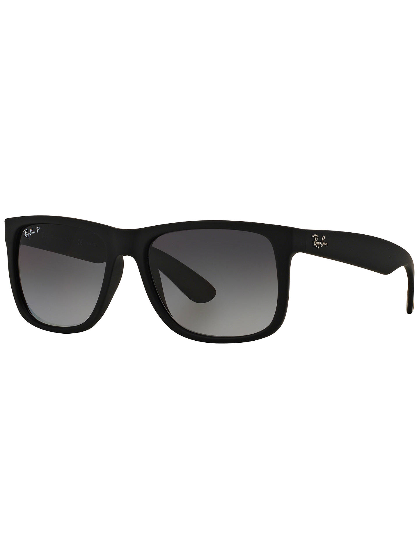 c278592b5699f Ray-Ban RB4165 Justin Polarised Wayfarer Sunglasses at John Lewis ...