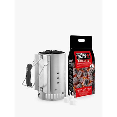 Weber Chimney Charcoal BBQ Starter Set