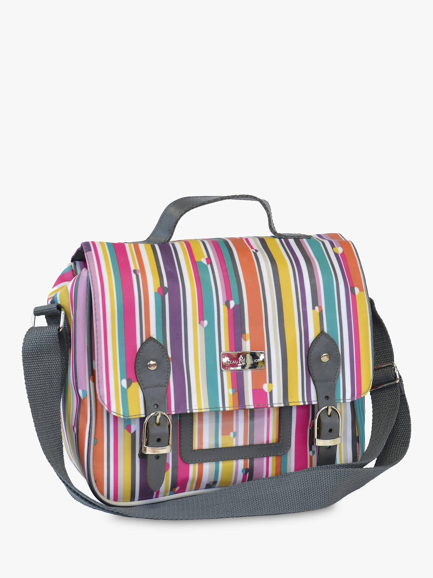 Buy Beau   Elliot Stripe Lunch Satchel and Cooler Bag Online at  johnlewis.com b3860cc770a89