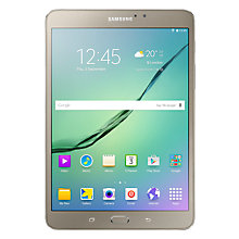 "Buy Samsung Galaxy Tab S2, Octa-Core Exynos, Android, 8"", Wi-Fi, 32GB, Gold +  FREE Dual USB Portable Power Bank Online at johnlewis.com"