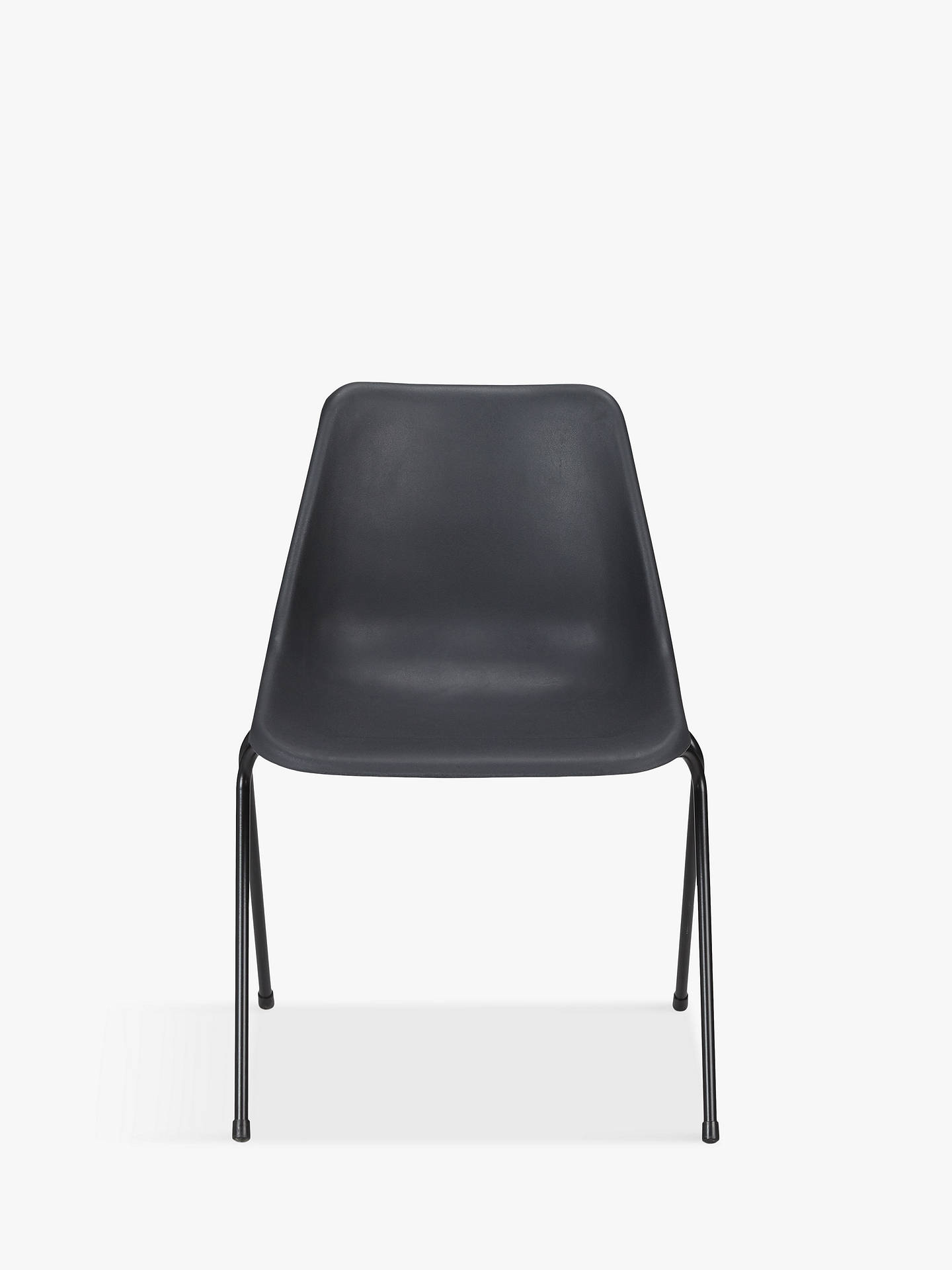Buy Robin Day Polypropylene Side Chair, Dark Grey Online at johnlewis.com