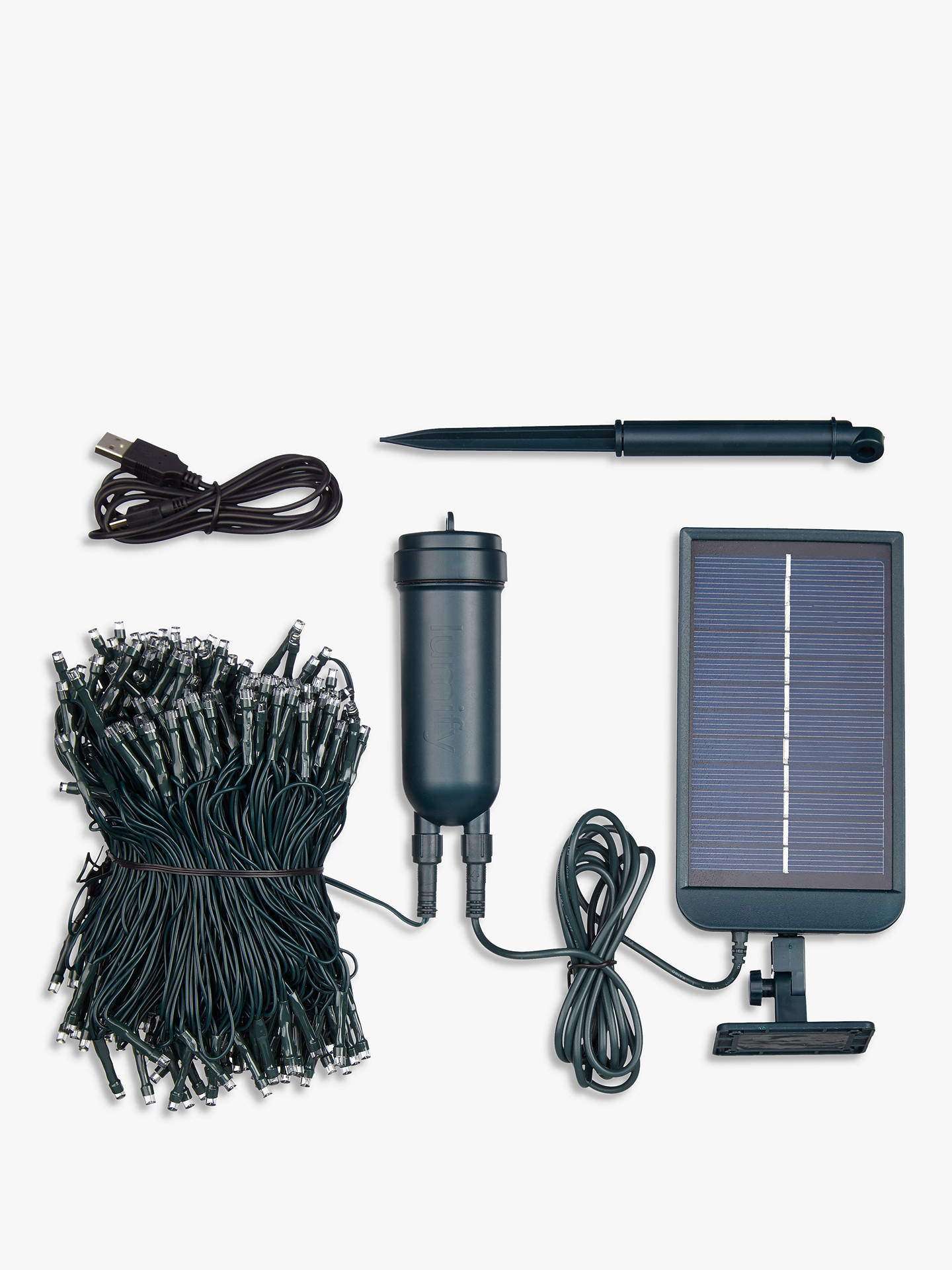 BuyThe Solar Centre Lumify 300 Solar LED Outdoor Line Lights, White Online at johnlewis.com