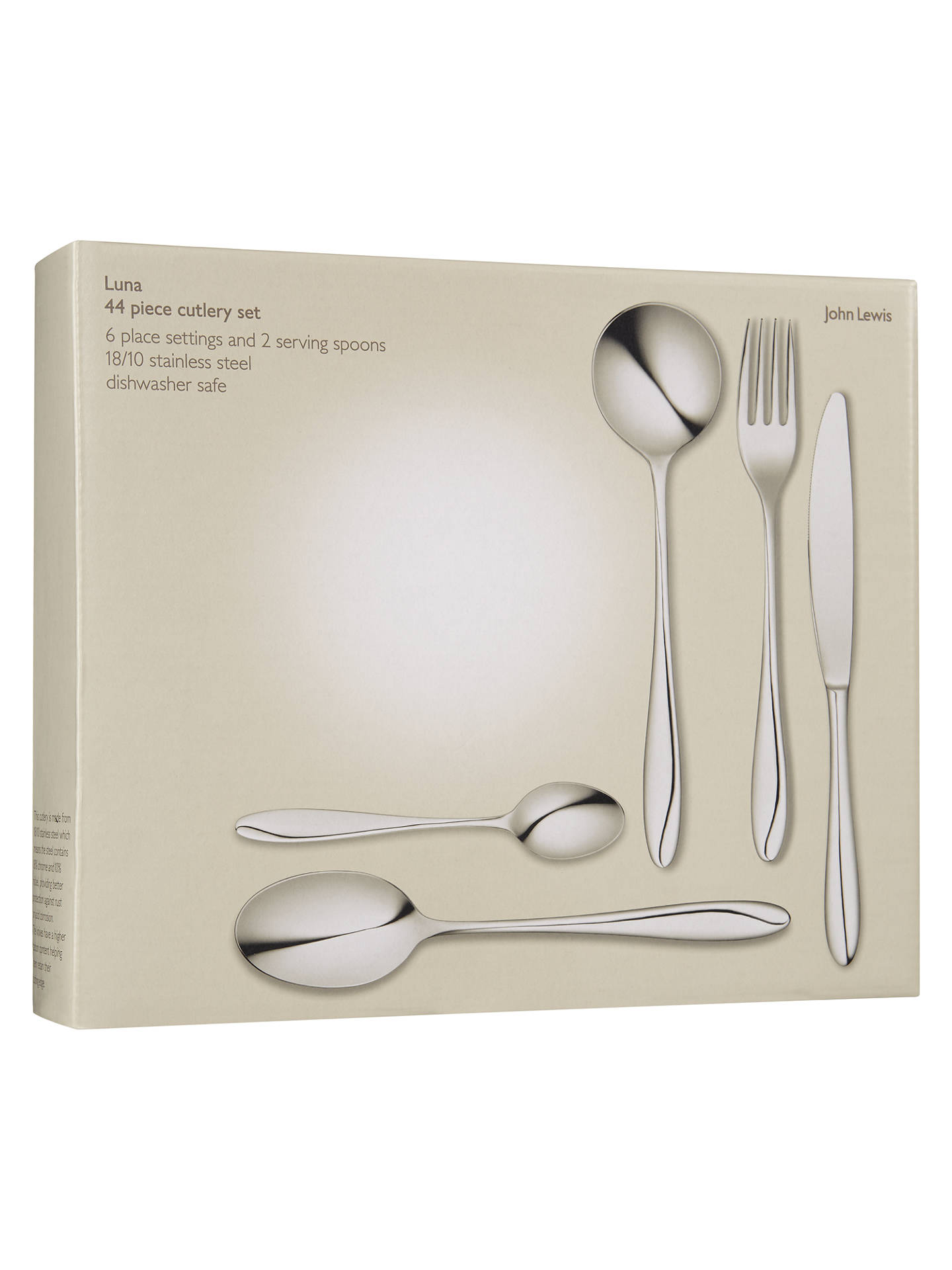 BuyJohn Lewis & Partners Luna Cutlery Set, 44 Piece Online at johnlewis.com