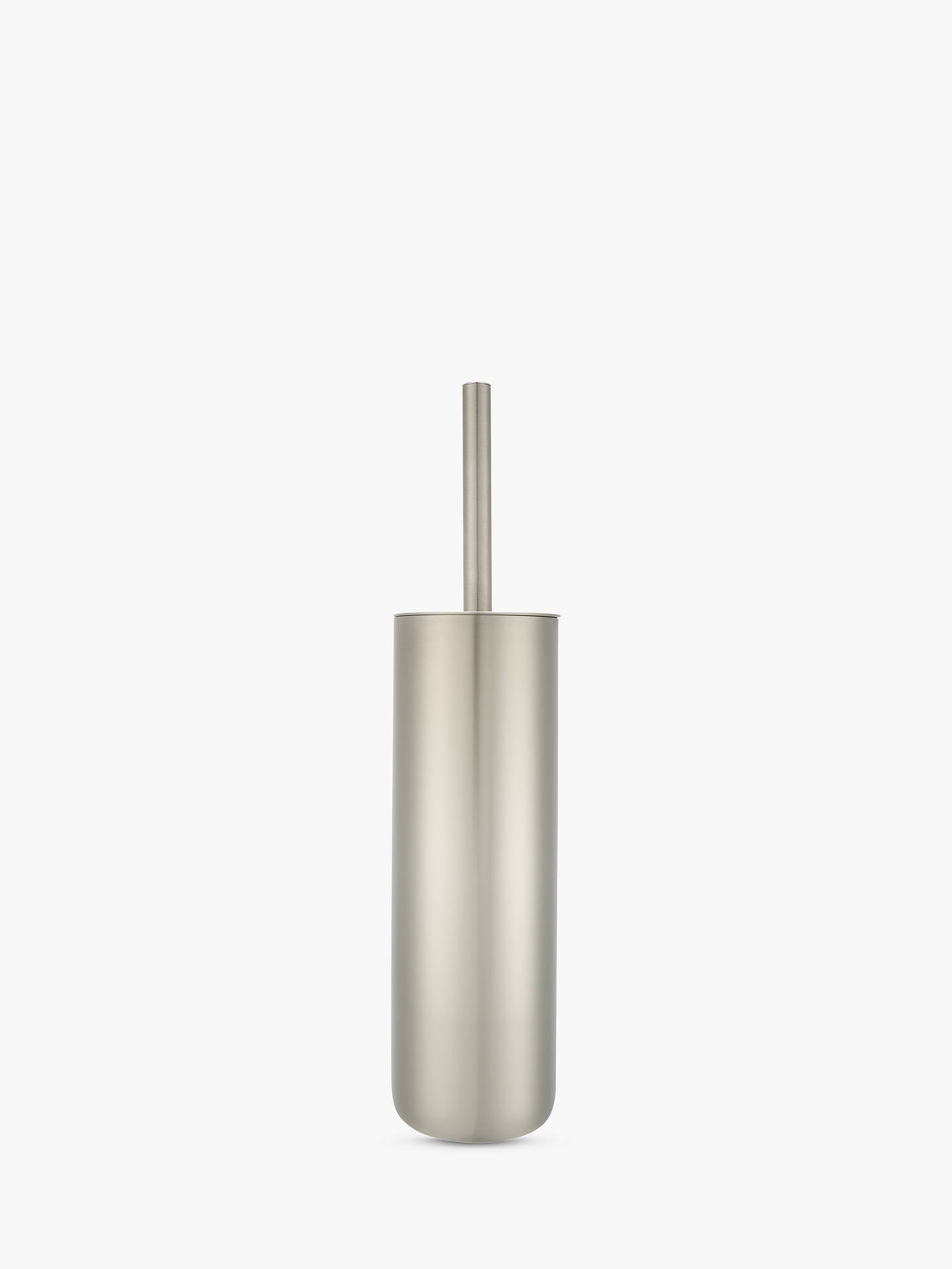 BuyJohn Lewis & Partners Toilet Brush and Holder, Two Tone Stainless Steel Online at johnlewis.com