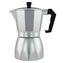 Buy John Lewis Espresso Maker, Silver, 6-Cup Online at johnlewis.com