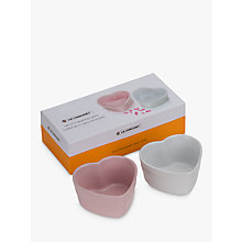 Buy Le Creuset Heart Ramekins, Set of 2 Online at johnlewis.com