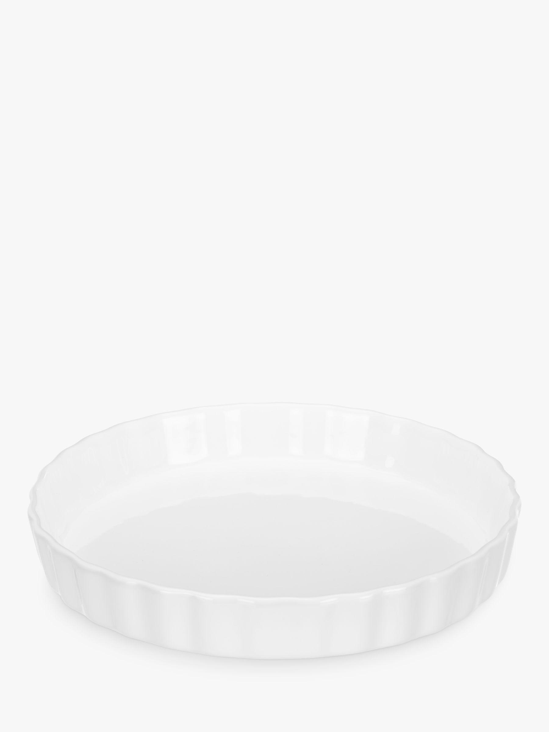John Lewis Porcelain Round Flan Oven Dish 26cm Octer