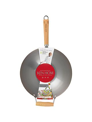 Ken Hom Carbon Steel Performance Wok, 31cm