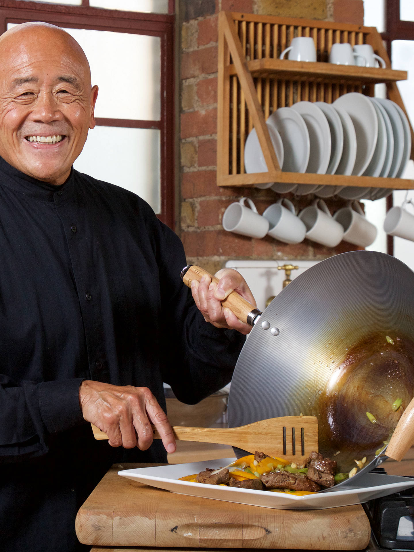 BuyKen Hom Carbon Steel Performance Wok, 31cm Online at johnlewis.com