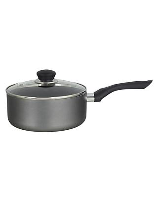 John Lewis & Partners The Basics Non-Stick Saucepan with Lid