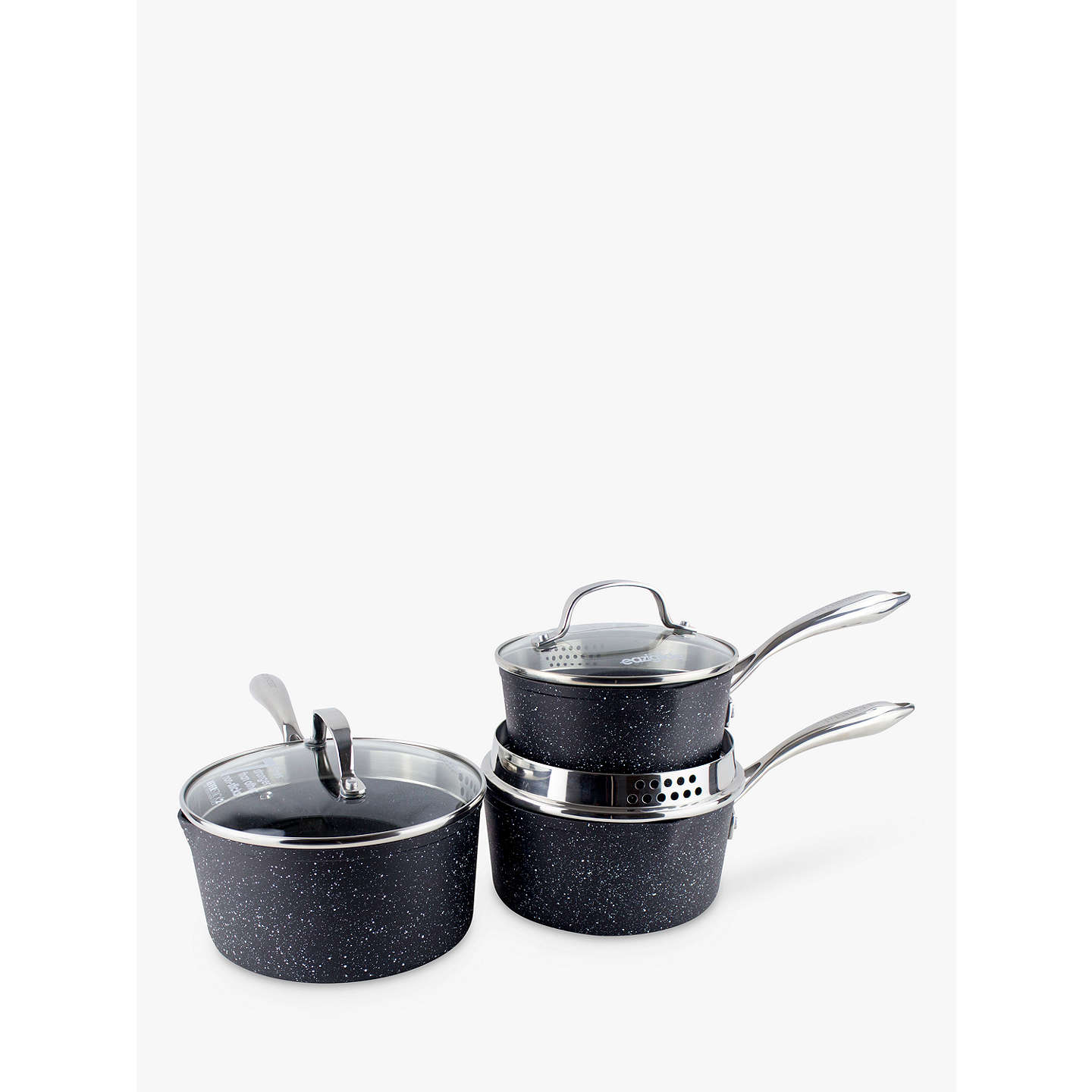 BuyEaziglide Neverstick2 Saucepan Set, 3 Pieces Online at johnlewis.com