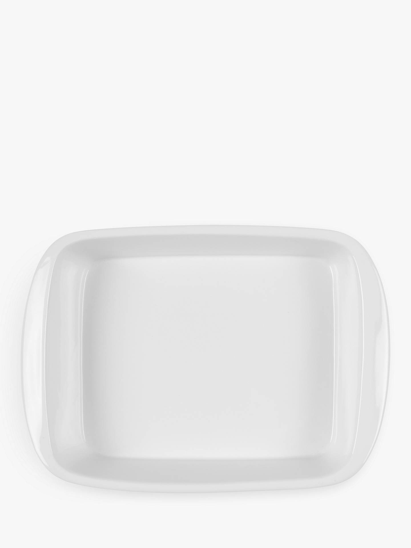 Buy John Lewis & Partners Porcelain Round Roaster Oven Dish, L36cm Online at johnlewis.com