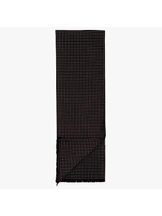 John Lewis & Partners Dot Silk Dress Scarf, Black