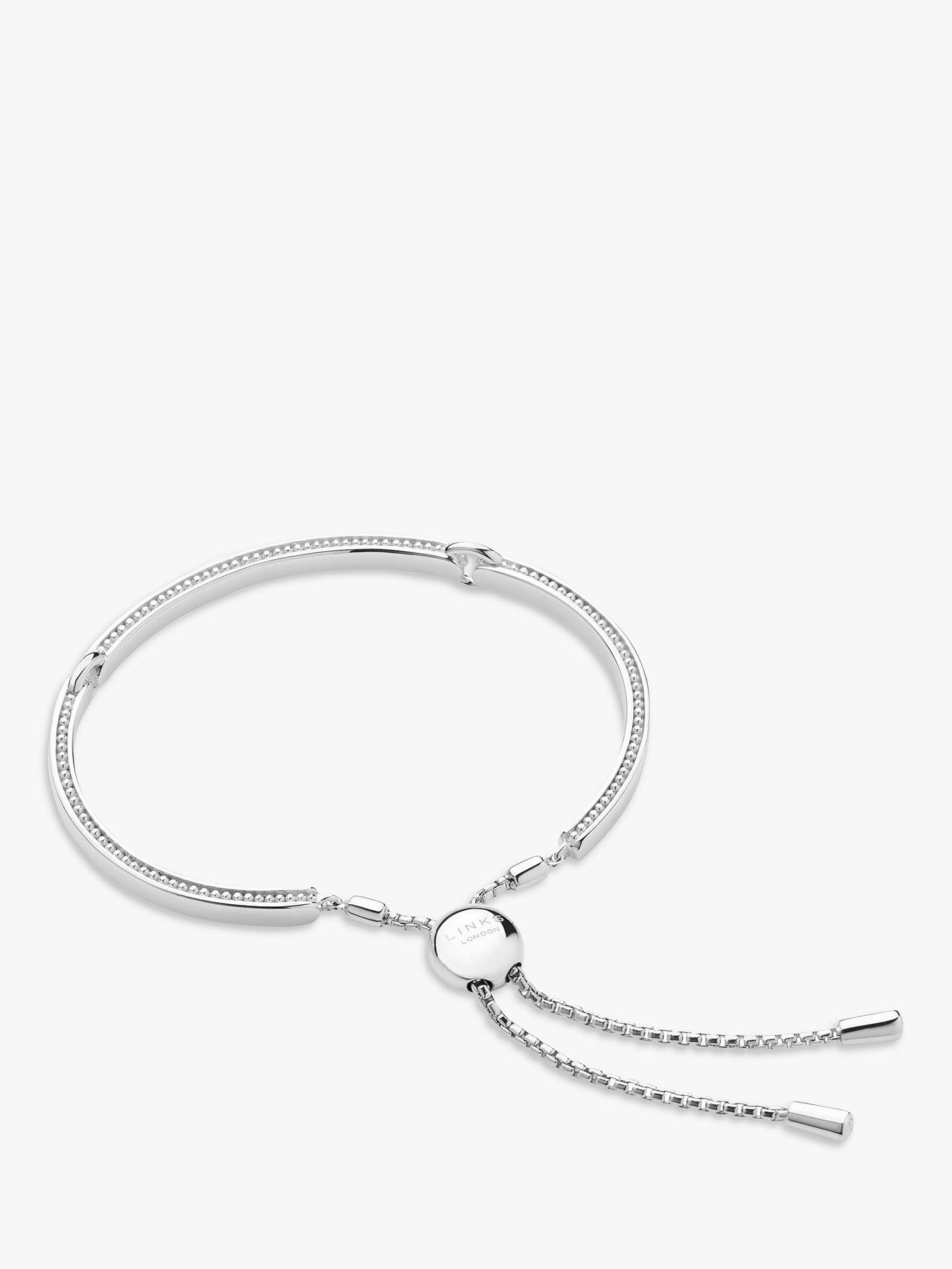 be69ec0b2f417 Links of London Sterling Silver Narrative Articulated Bracelet, Silver