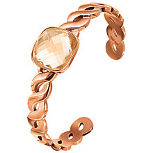 Buy Folli Follie Apeiron Rose Gold Plated Crystal Cuff, Rose Gold Online at johnlewis.com