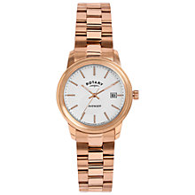 Buy Rotary LB02739/06 Women's Avenger Bracelet Strap Watch, Rose Gold/White Online at johnlewis.com