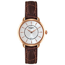 Buy Rotary LS02919/03 Women's Elise Leather Strap Watch, Brown/White Online at johnlewis.com