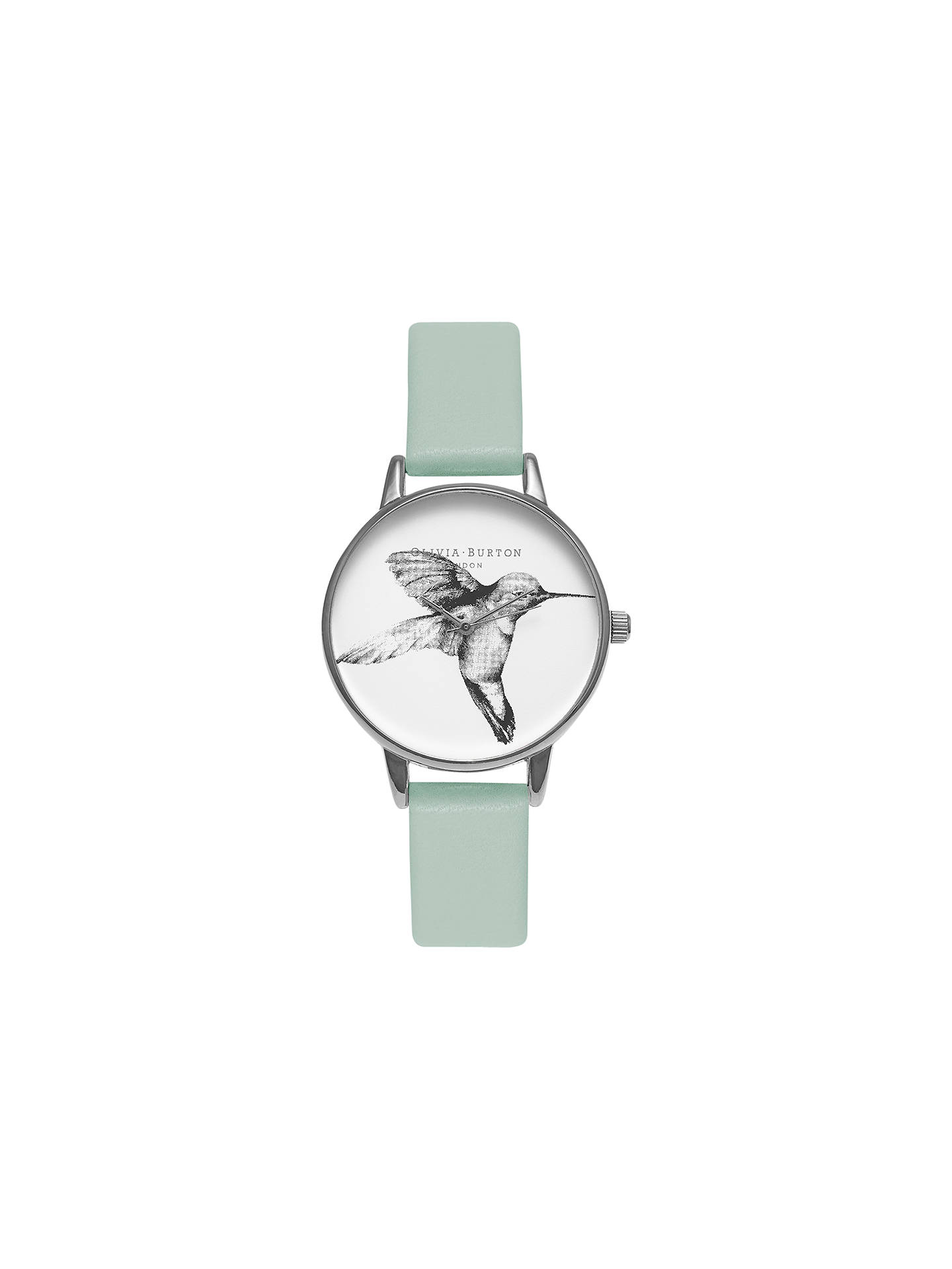 Buy Olivia Burton OB15AM67 Women's Animal Motifs Hummingbird Leather Strap Watch, Mint/White Online at johnlewis.com