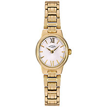 Buy Rotary LB02748/01 Women's Olivie Bracelet Strap Watch, Gold/White Online at johnlewis.com