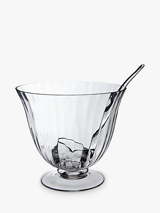 Croft Collection Hambleden Handmade Punch Bowl & Ladle, 28cm, Clear
