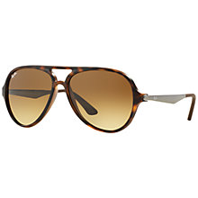 Buy Ray-Ban RB4235 Pilot Aviator Sunglasses, Brown Online at johnlewis.com
