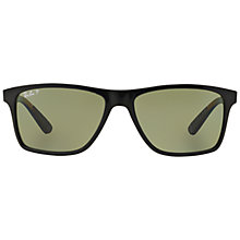 Buy Ray-Ban RB4234 Polarised Rectangular Sunglasses, Black Online at johnlewis.com