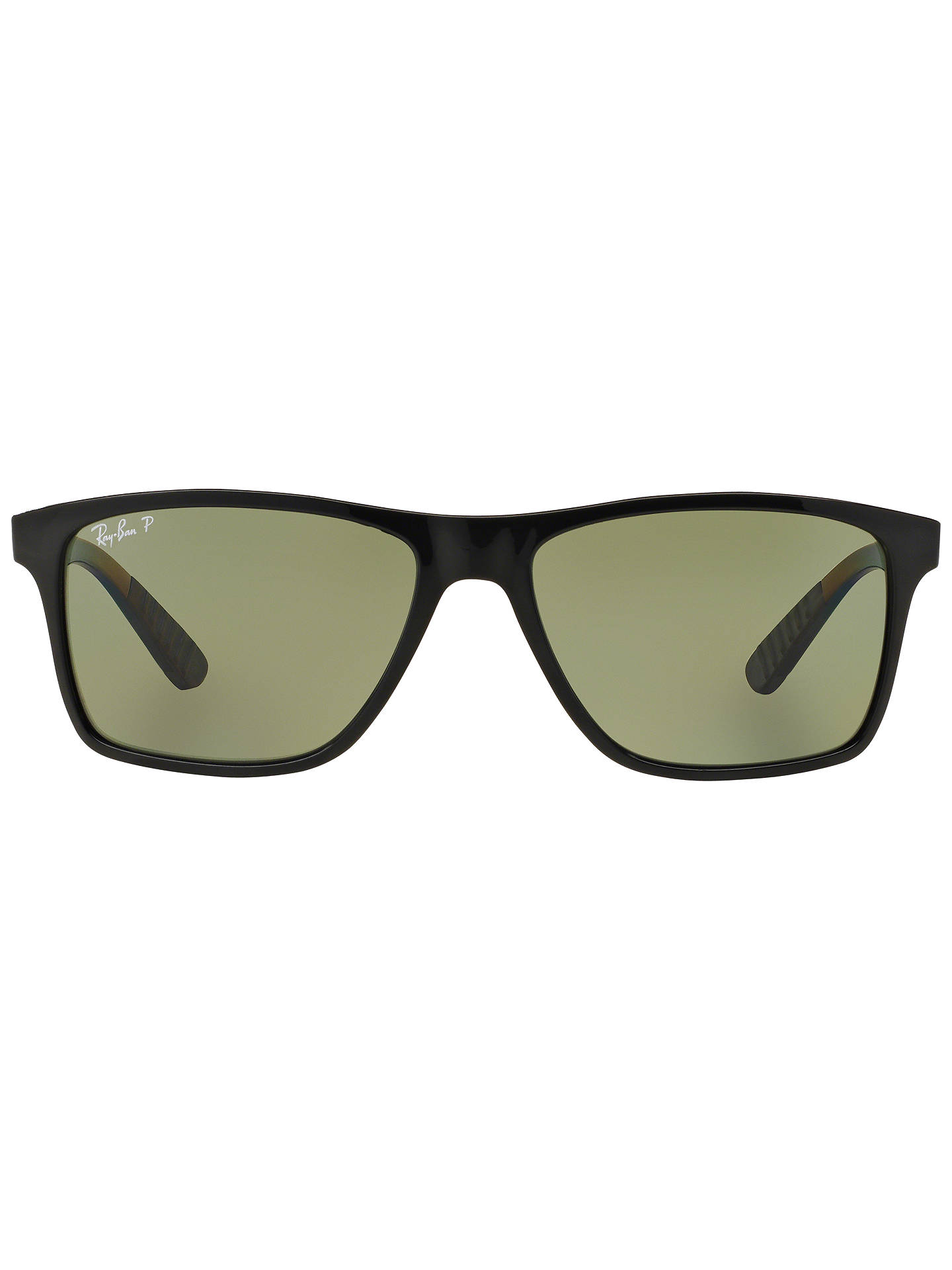BuyRay-Ban RB4234 Polarised Rectangular Sunglasses, Black Online at johnlewis.com