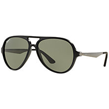 Buy Ray-Ban RB4235 Polarised Aviator Sunglasses, Black Online at johnlewis.com
