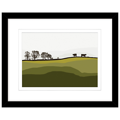 Jacky Al Samarraie – Cows At Lochans, Framed Print, 44 x 54cm