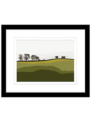 Jacky Al Samarraie - Cows At Lochans, Framed Print, 44 x 54cm