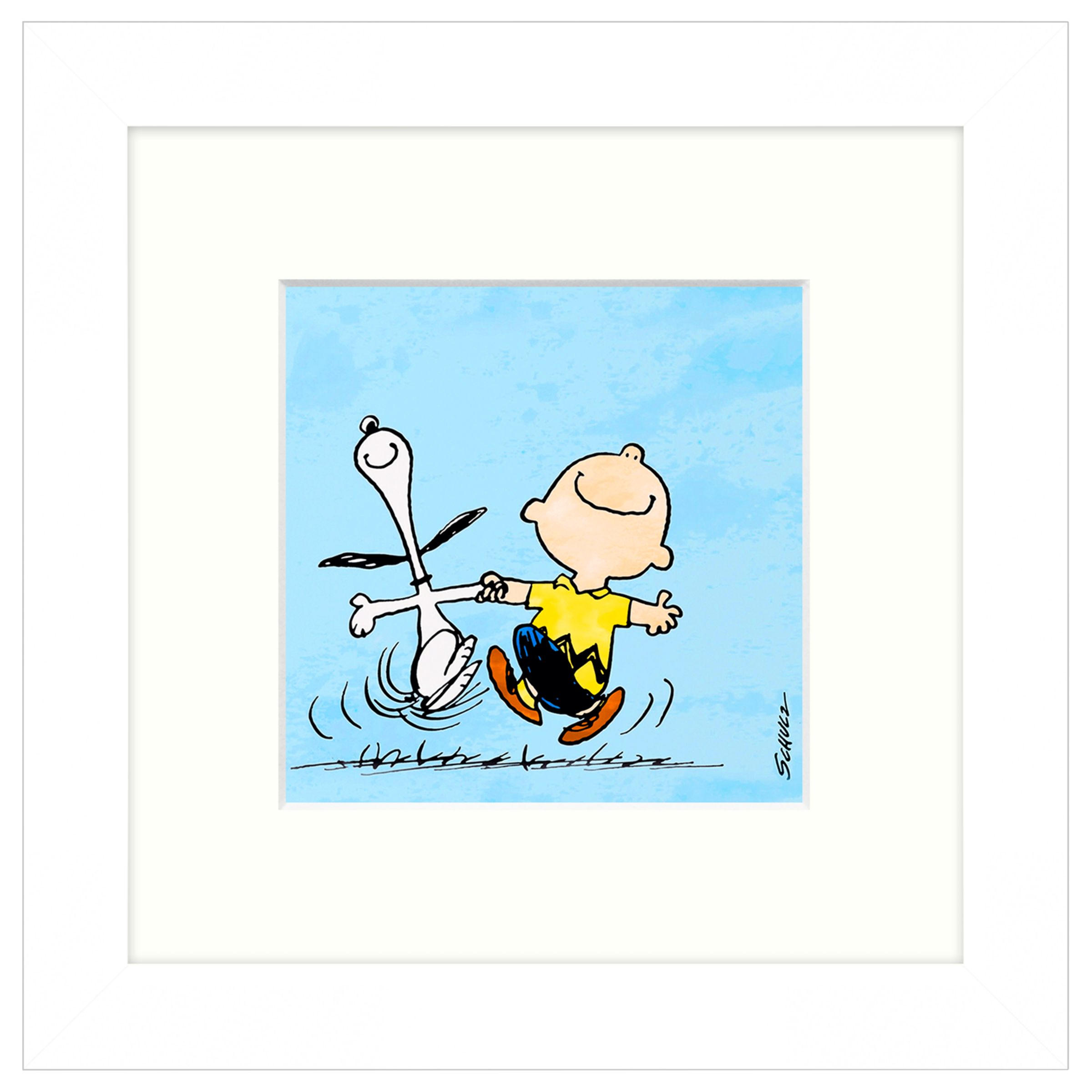 Peanuts Snoopy And Charlie Brown Framed Print 23 X 23cm At John Lewis Partners