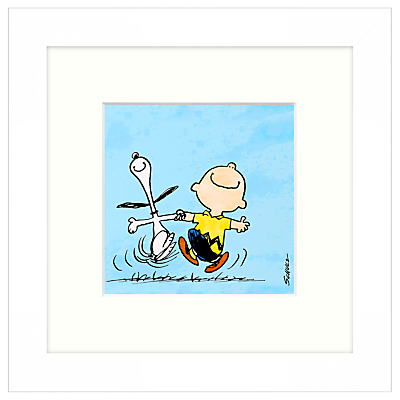 Image of Peanuts - Snoopy and Charlie Brown, Framed Print, 23 x 23cm