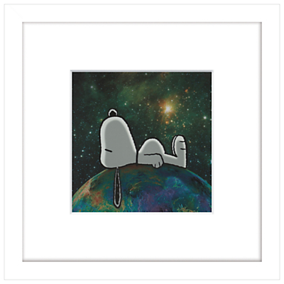 Image of Peanuts - Snoopy On Top of The World, Framed Print, 23 x 23cm