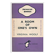 Buy Penguin Books - A Room Of One's Own Unframed Print with Mount, 40 x 30cm Online at johnlewis.com