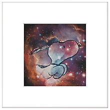 Buy Peanuts - Snoopy Thru The Stars, Framed Print, 23 x 23cm Online at johnlewis.com