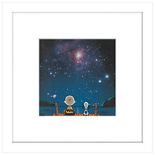 Buy Peanuts - Snoopy and Charlie Stargazing, Framed Print, 23 x 23cm Online at johnlewis.com