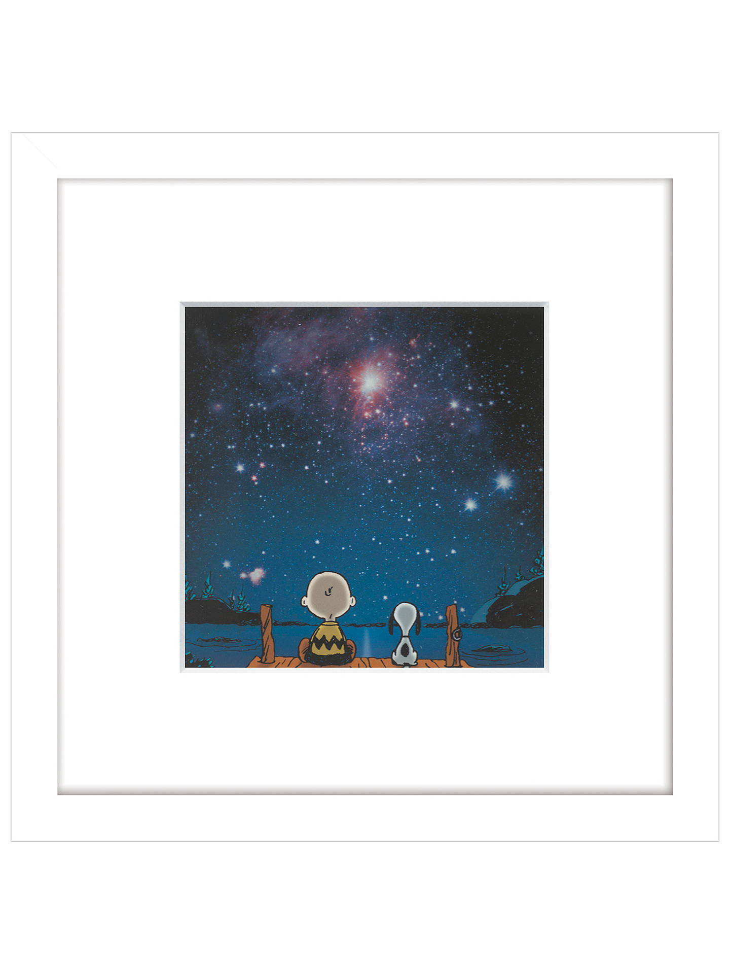 Peanuts Snoopy And Charlie Stargazing Framed Print 23