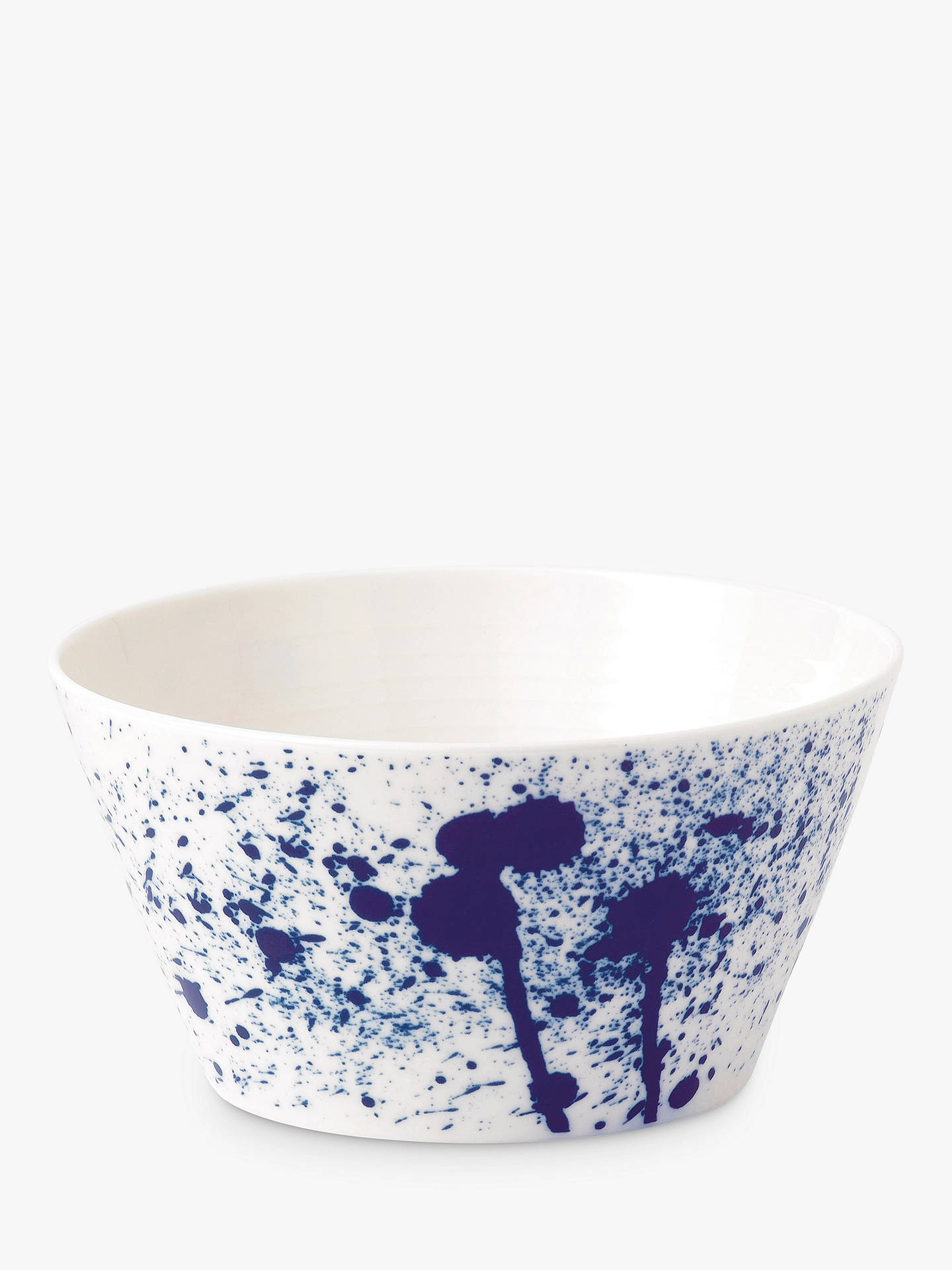 Buy Royal Doulton Pacific Porcelain Cereal Bowl, Splash, 15cm, Blue/White Online at johnlewis.com