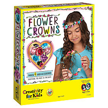 Buy West Designs Flower Crowns Craft Set Online at johnlewis.com