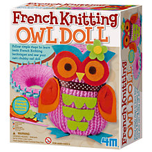 Buy French Knitting Owl Doll Kit Online at johnlewis.com