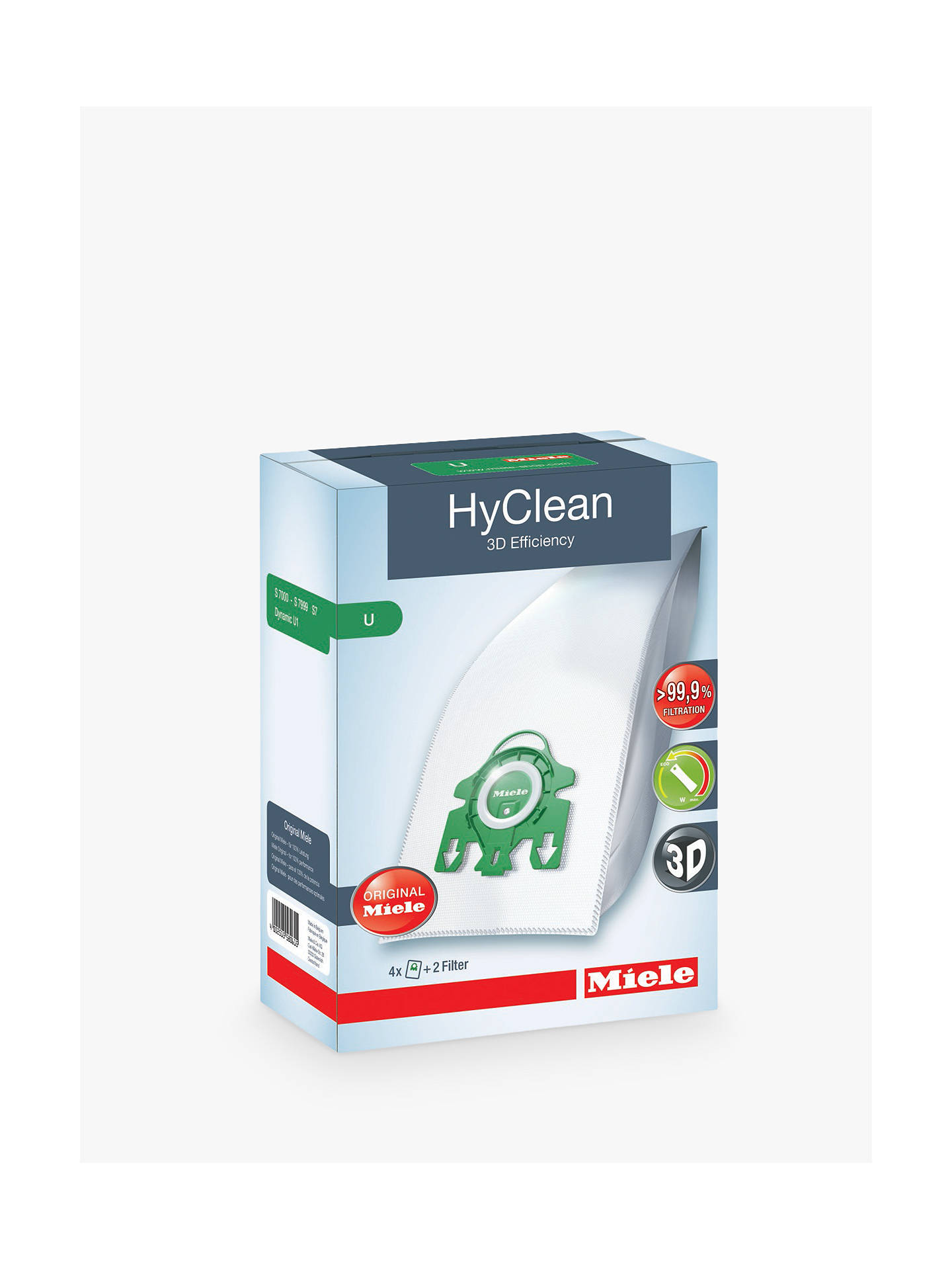 BuyMiele SB U HyClean 3D Efficiency Vacuum Cleaner Bag Online at johnlewis.com