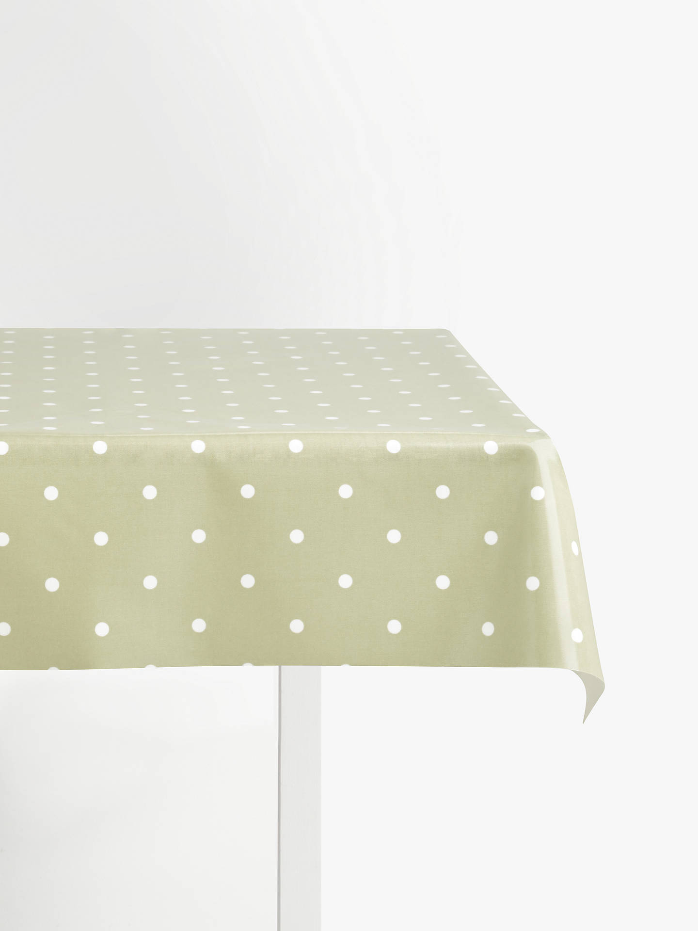 BuyJohn Lewis & Partners New Dots PVC Tablecloth Fabric, Green Online at johnlewis.com