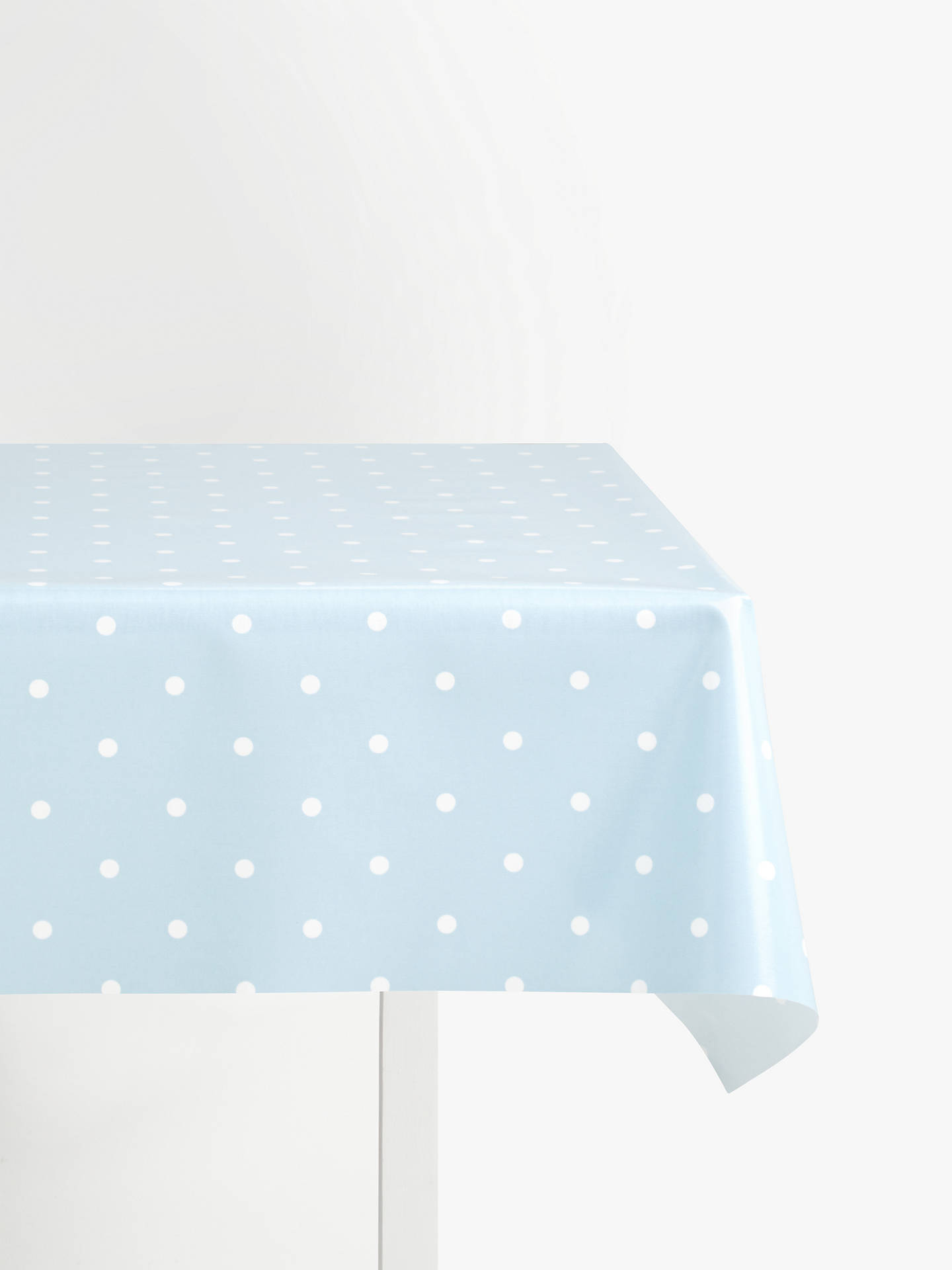 BuyJohn Lewis & Partners New Dots PVC Tablecloth Fabric, Blue Online at johnlewis.com