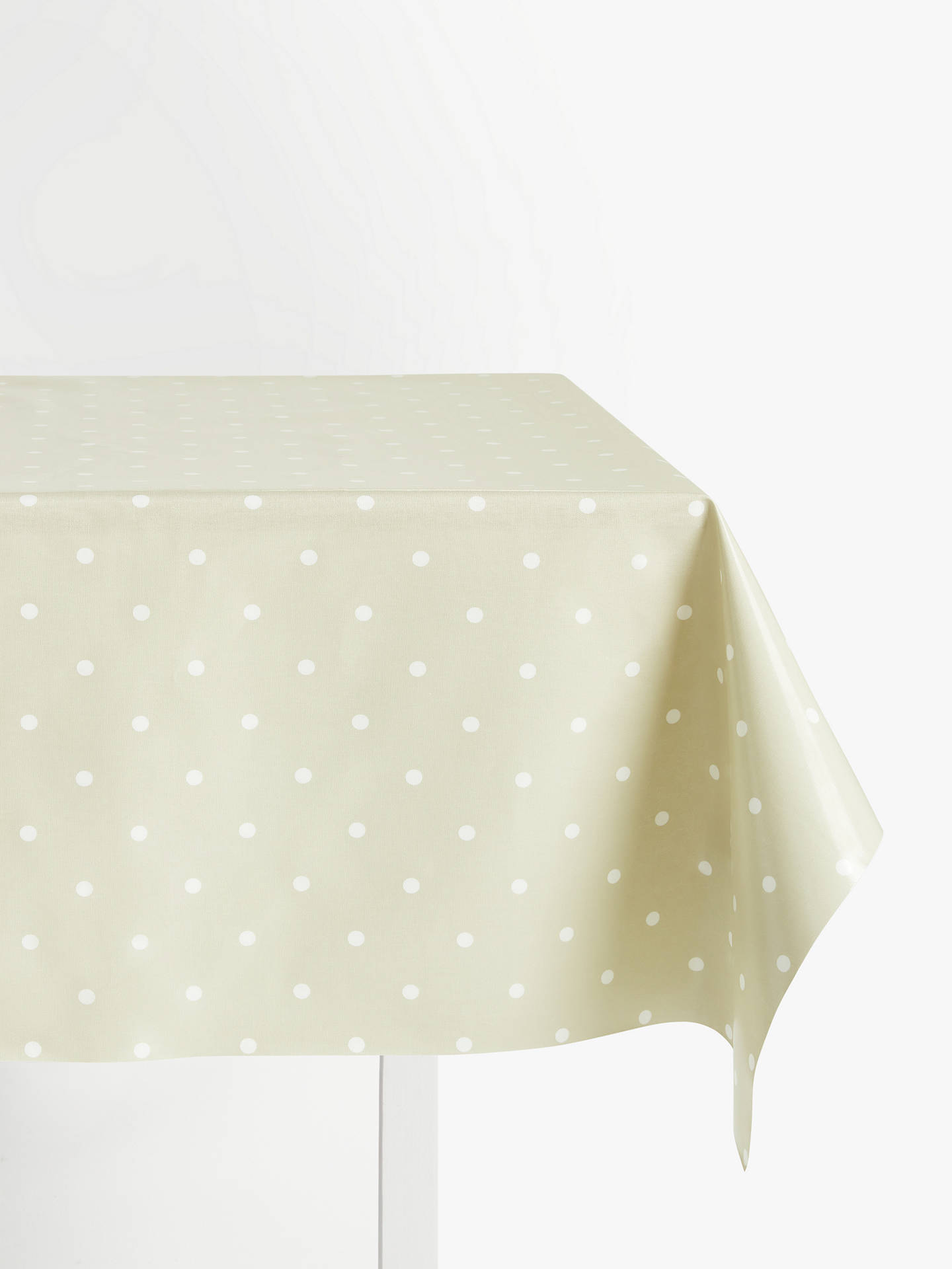 BuyJohn Lewis & Partners New Dots PVC Tablecloth Fabric, Mushroom Online at johnlewis.com