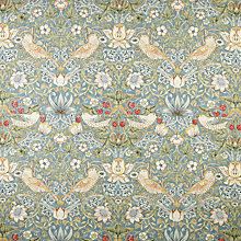 Buy Morris & Co Strawberry Thief Furnishing Fabric Online at johnlewis.com