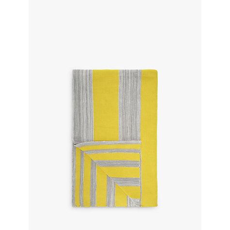 buy house by john lewis stripe throw yellow grey john lewis. Black Bedroom Furniture Sets. Home Design Ideas