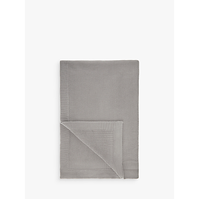 John Lewis Rye Plain Knit Throw