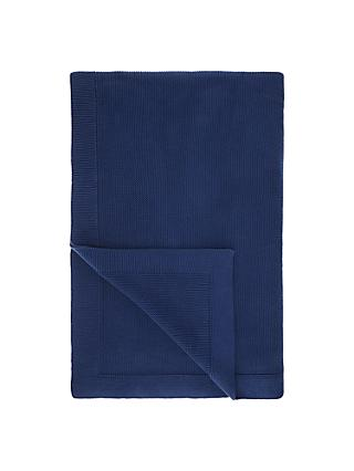 John Lewis & Partners Rye Plain Knit Throw