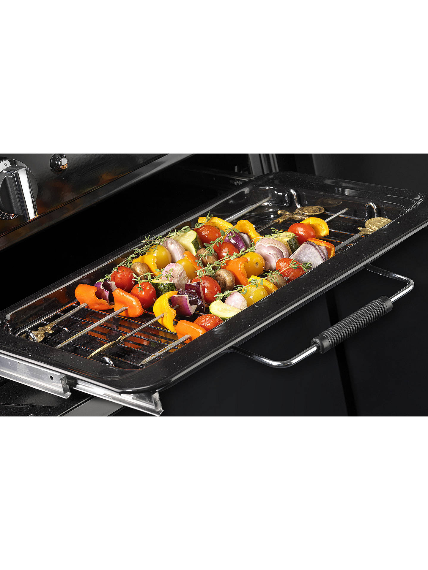 BuyRangemaster Leckford LCK110DFFBL/C Dual Fuel Range Cooker, Black/Chrome Online at johnlewis.com