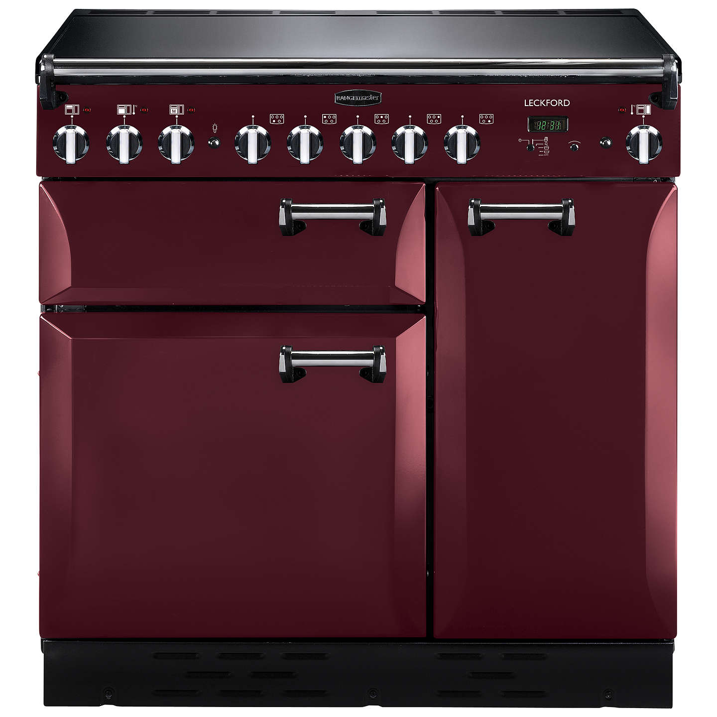 BuyRangemaster Leckford LCK90EICY/C Electric Induction Range Cooker, Cranberry/Chrome Online at johnlewis.com